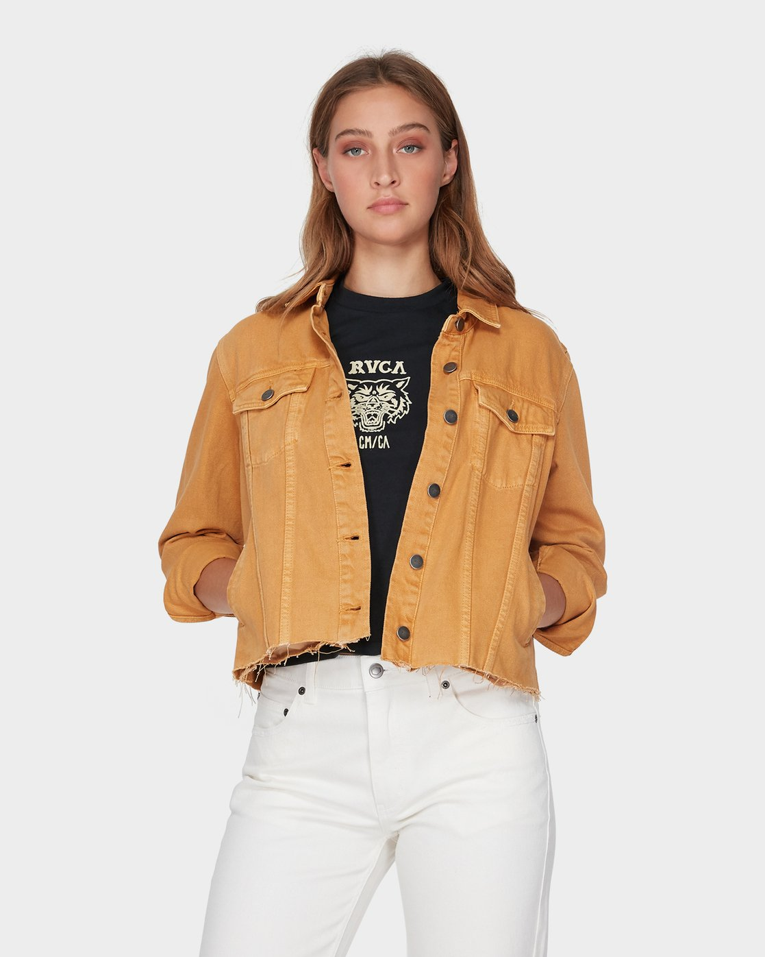 0 Pause It Jacket Yellow R293432 RVCA