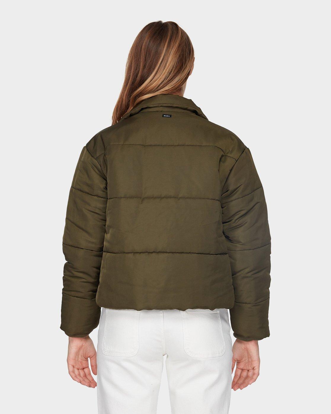 2 Eezeh Puffa Jacket Green R293441 RVCA