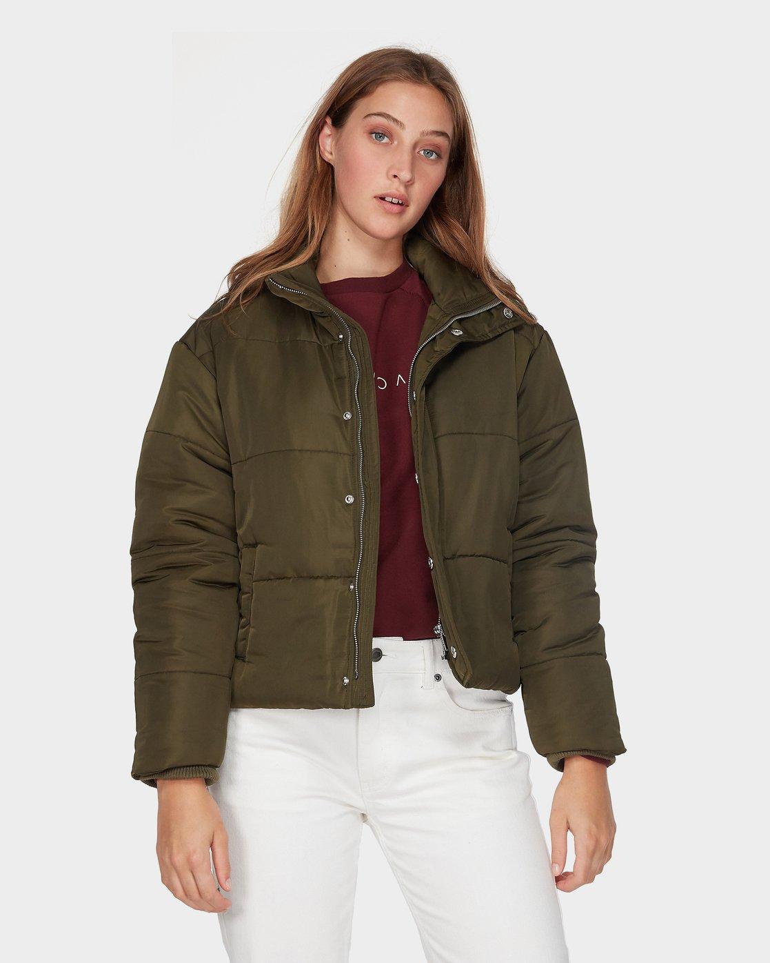 0 Eezeh Puffa Jacket Green R293441 RVCA