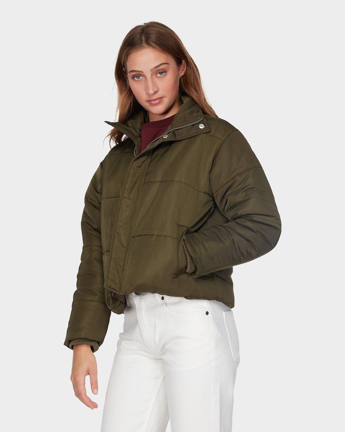 1 Eezeh Puffa Jacket Green R293441 RVCA