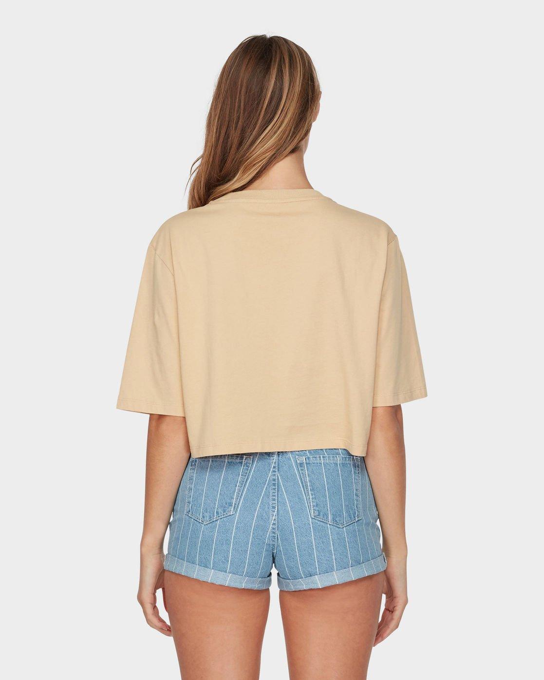 2 RVCA Island Pocket T-Shirt Yellow R293683 RVCA
