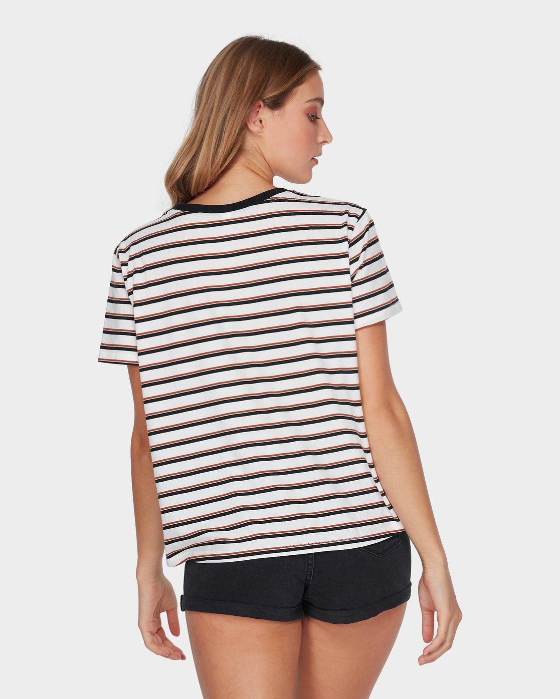 1 Patch Stripe T-Shirt Orange R293692 RVCA