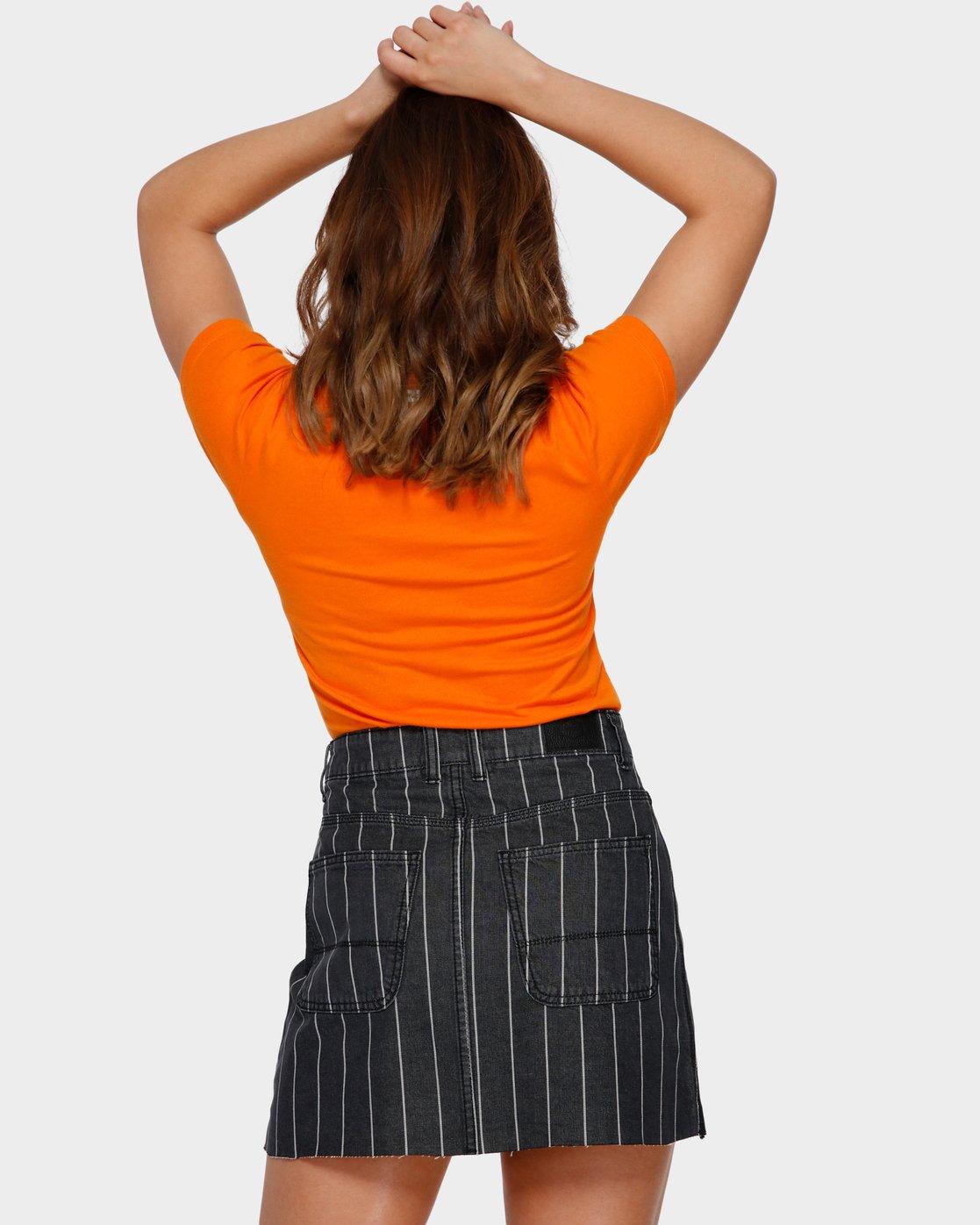 3 Flock Boy T-Shirt Orange R293694 RVCA