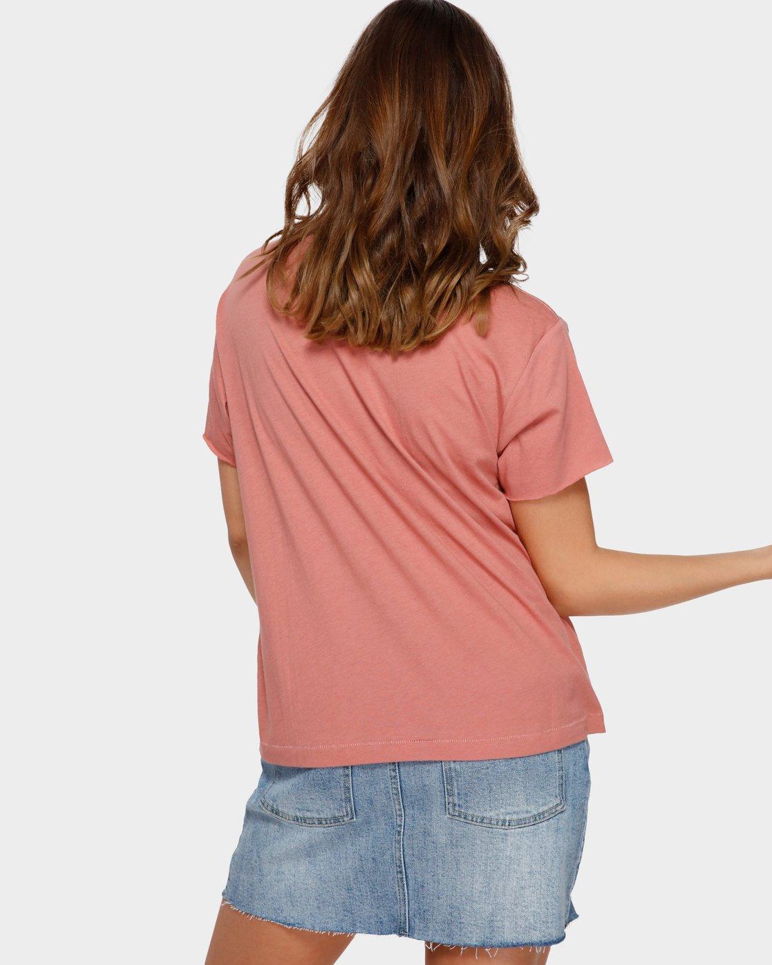 3 Switch T-Shirt Brown R293695 RVCA