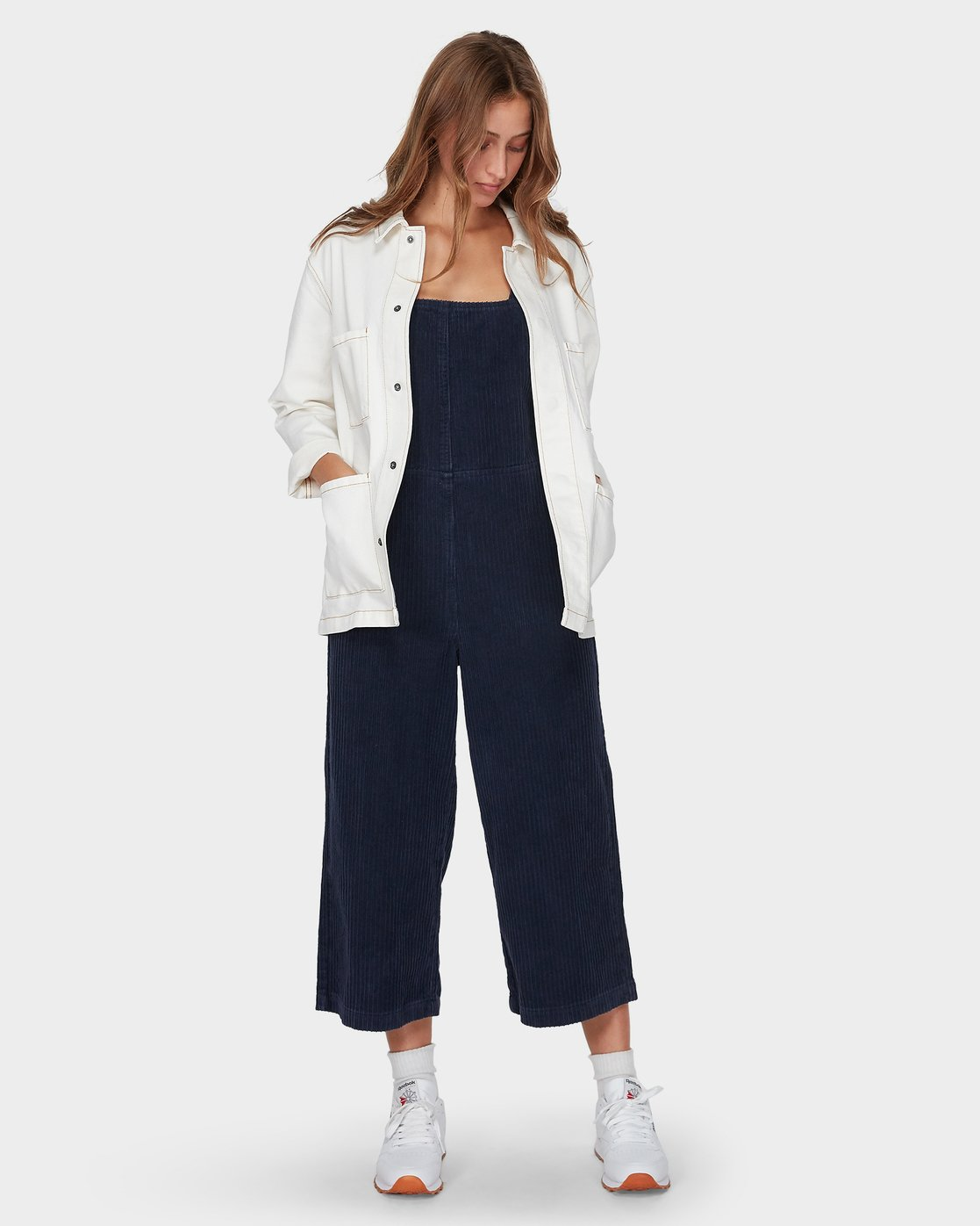 4 Crushed Plush Overall Blue R293756 RVCA