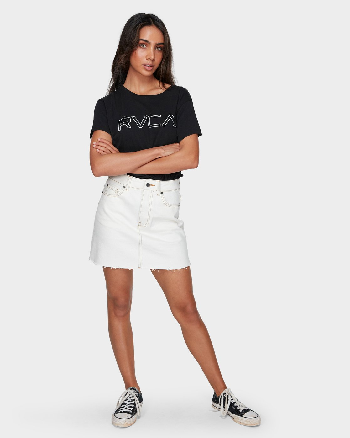 5 Rowdy Rewerked Skirt White R293831 RVCA