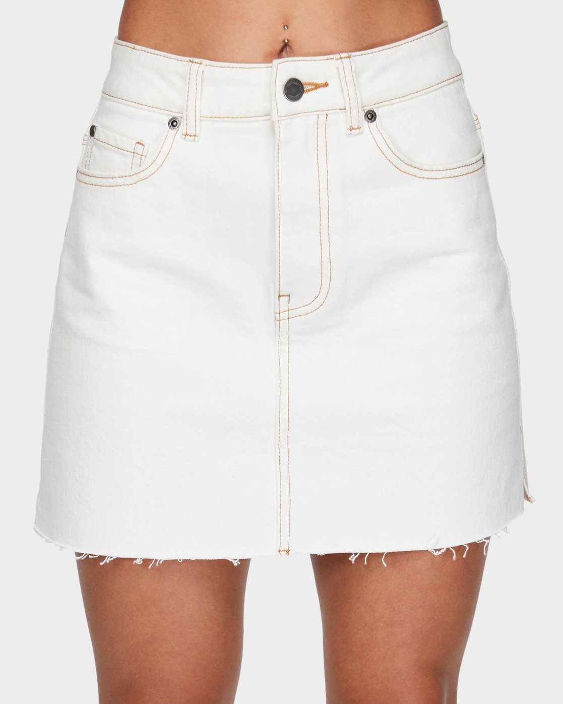 3 Rowdy Rewerked Skirt White R293831 RVCA