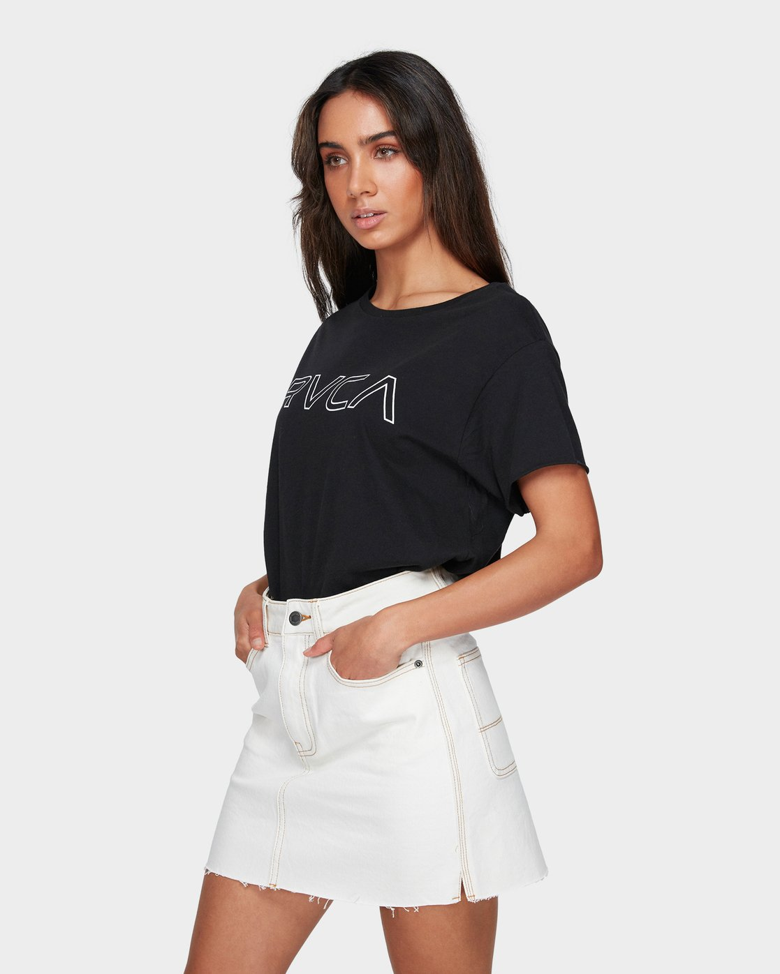 1 Rowdy Rewerked Skirt White R293831 RVCA