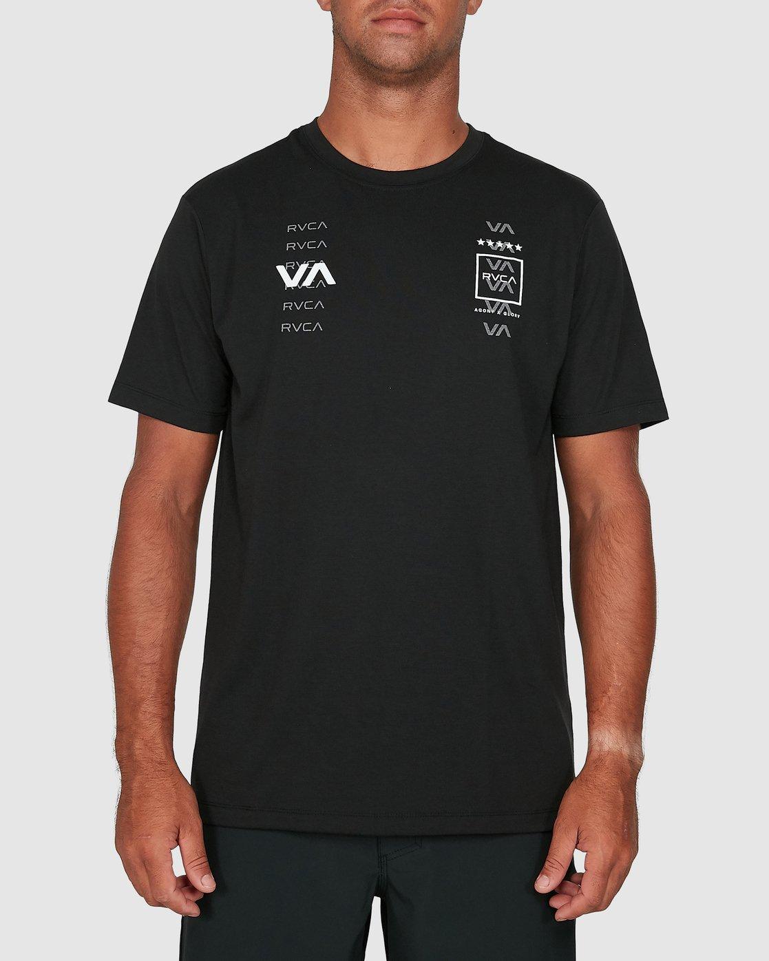 0 Double Down Short Sleeve Tee Black R305043 RVCA