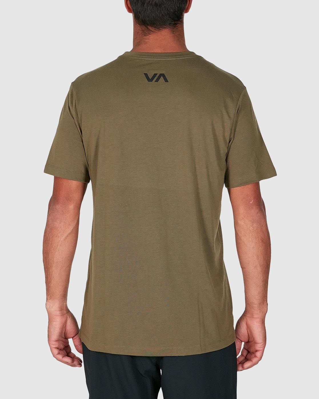 3 Mid Bar Short Sleeve Tee Green R305044 RVCA