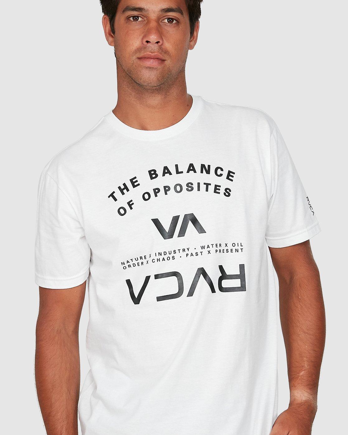3 Balance Arc Short Sleeve Tee White R305046 RVCA
