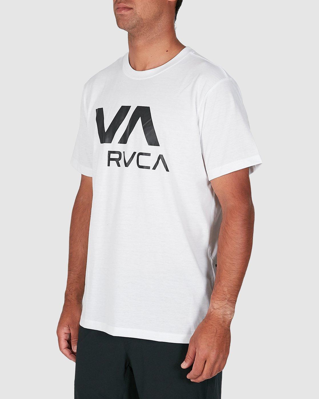 2 Va Rvca Short Sleeve Tee White R305050 RVCA