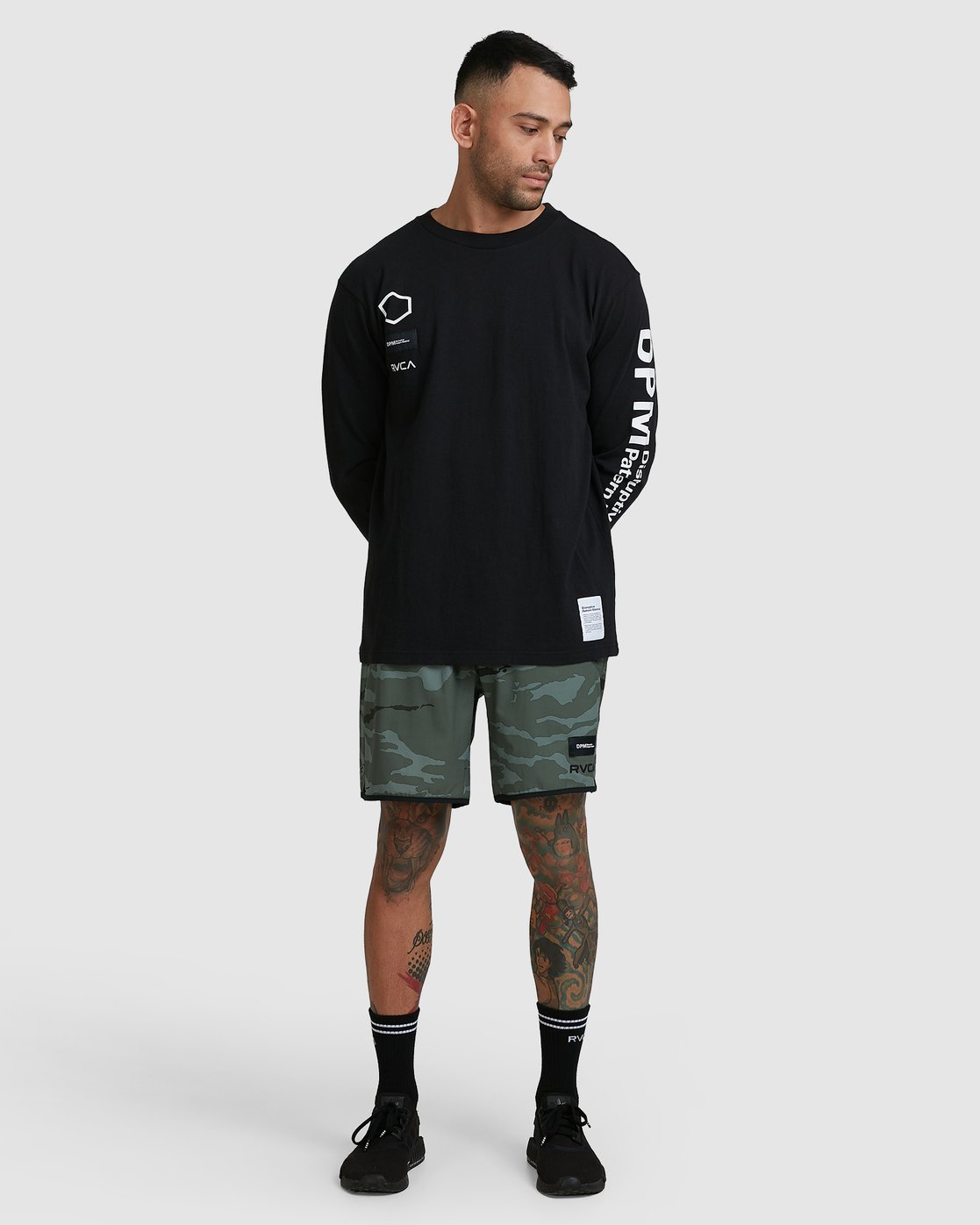 5 DPM Long Sleeve T-Shirt Black R305096 RVCA