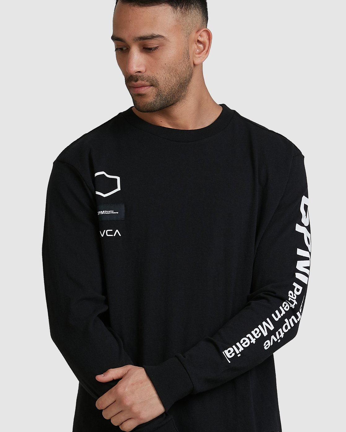 1 DPM Long Sleeve T-Shirt Black R305096 RVCA