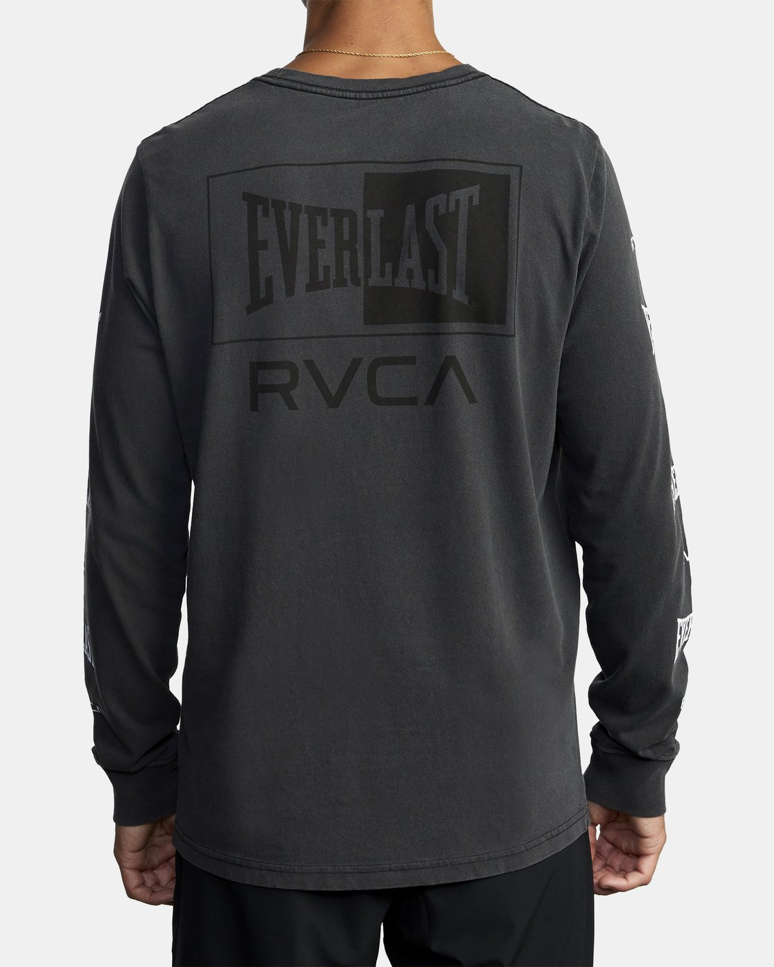 3 EVERLAST BOX LONG SLEEVE TEE Black R305099 RVCA