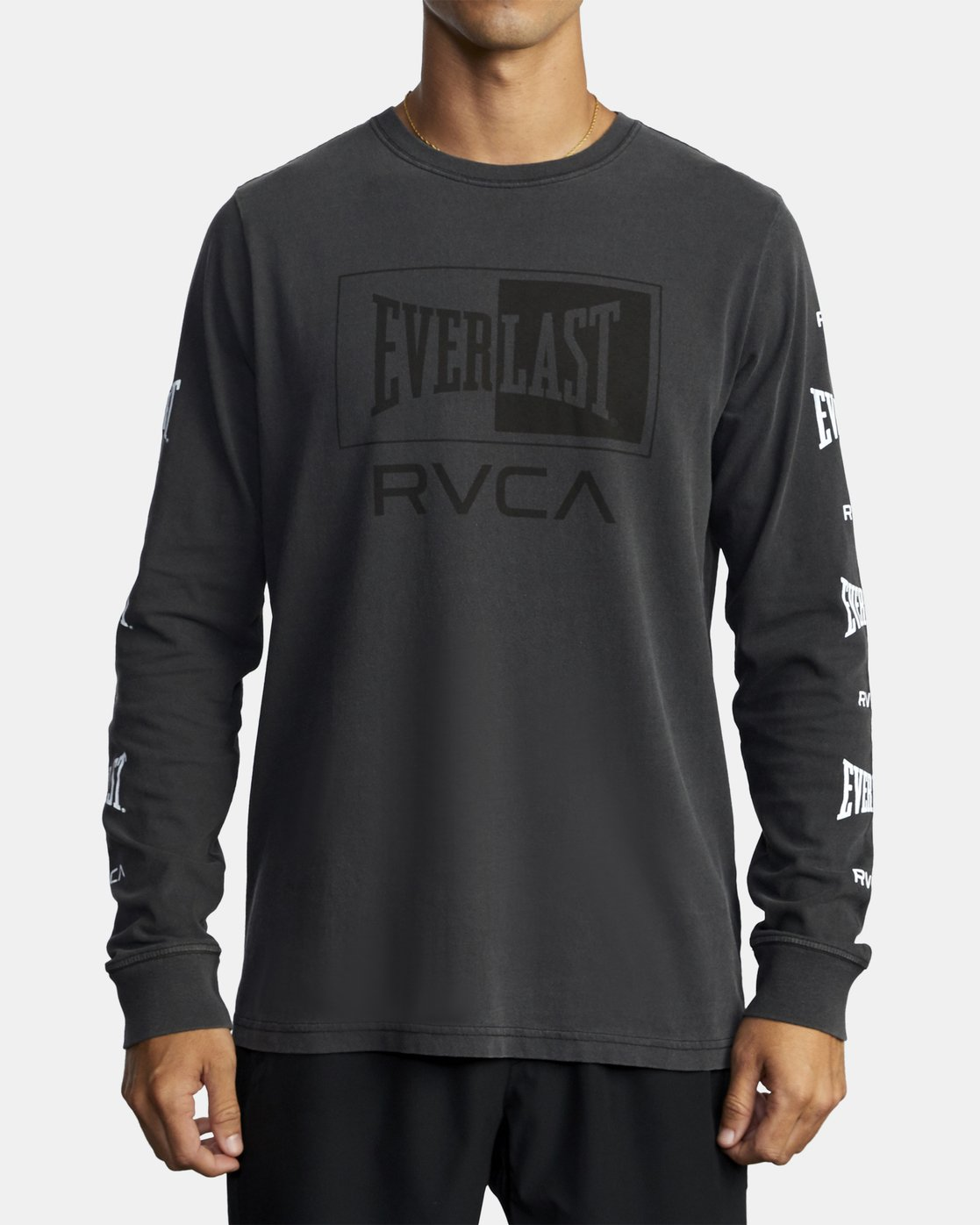 0 EVERLAST BOX LONG SLEEVE TEE Black R305099 RVCA