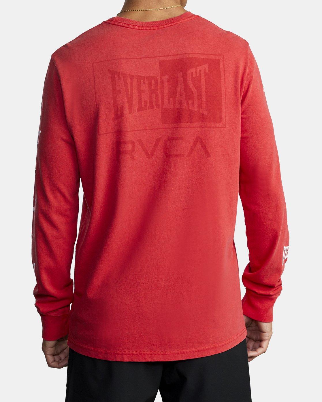 3 EVERLAST BOX LONG SLEEVE TEE Red R305099 RVCA