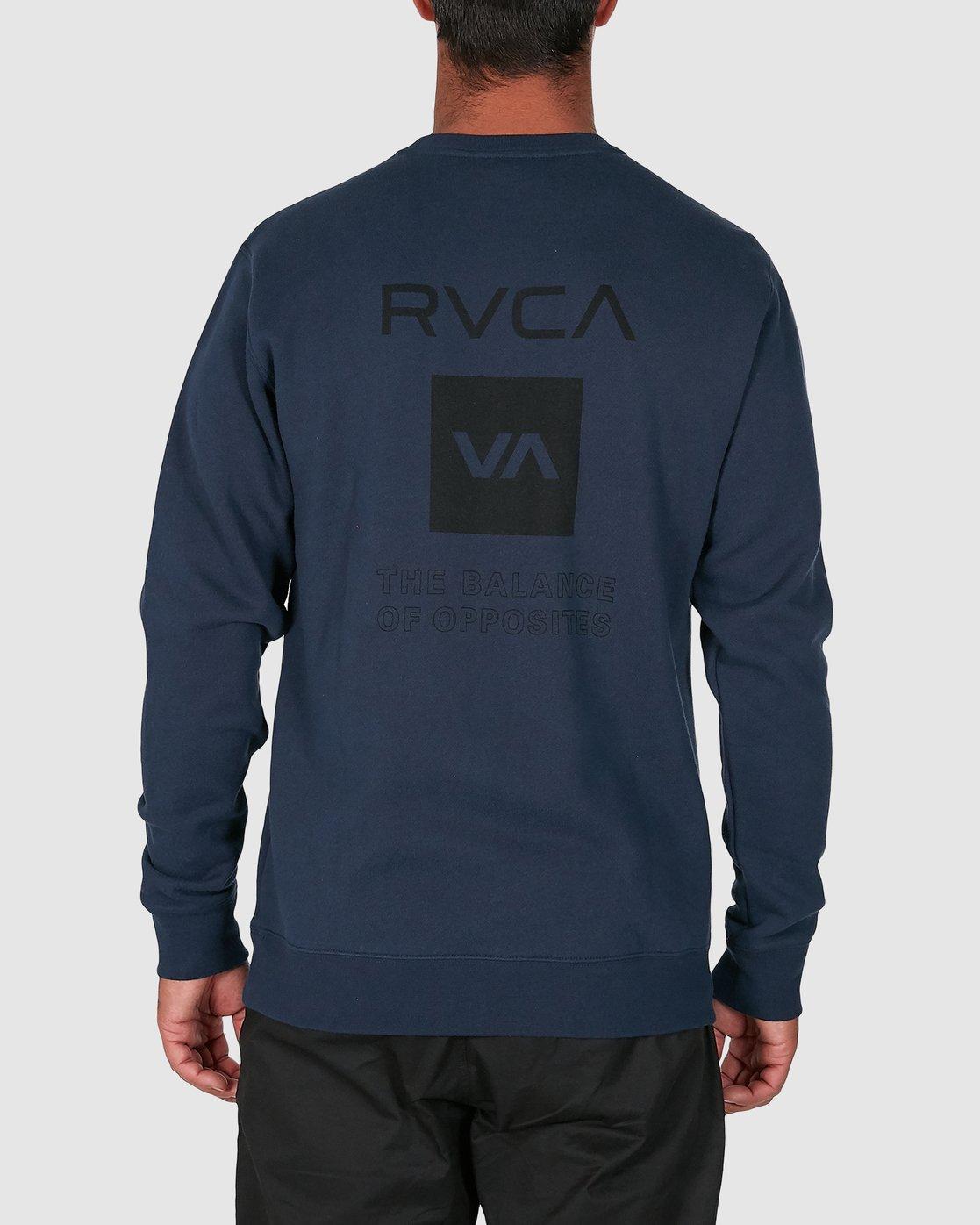 3 Sport Graphic Crew Jumper Blue R305156 RVCA