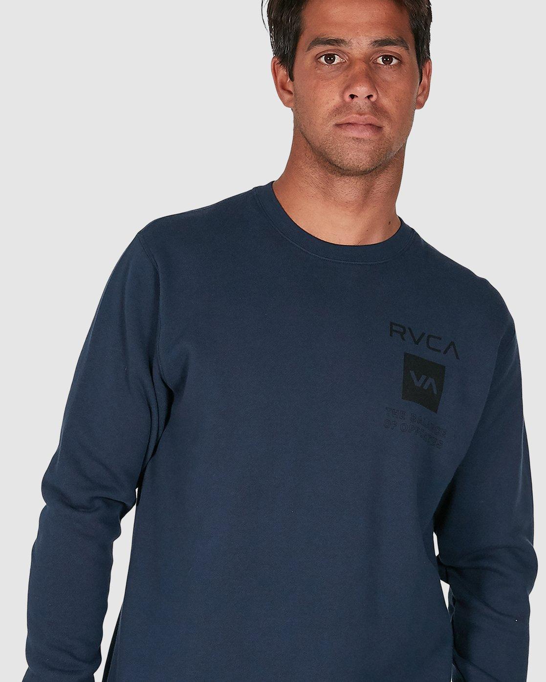 4 Sport Graphic Crew Jumper Blue R305156 RVCA