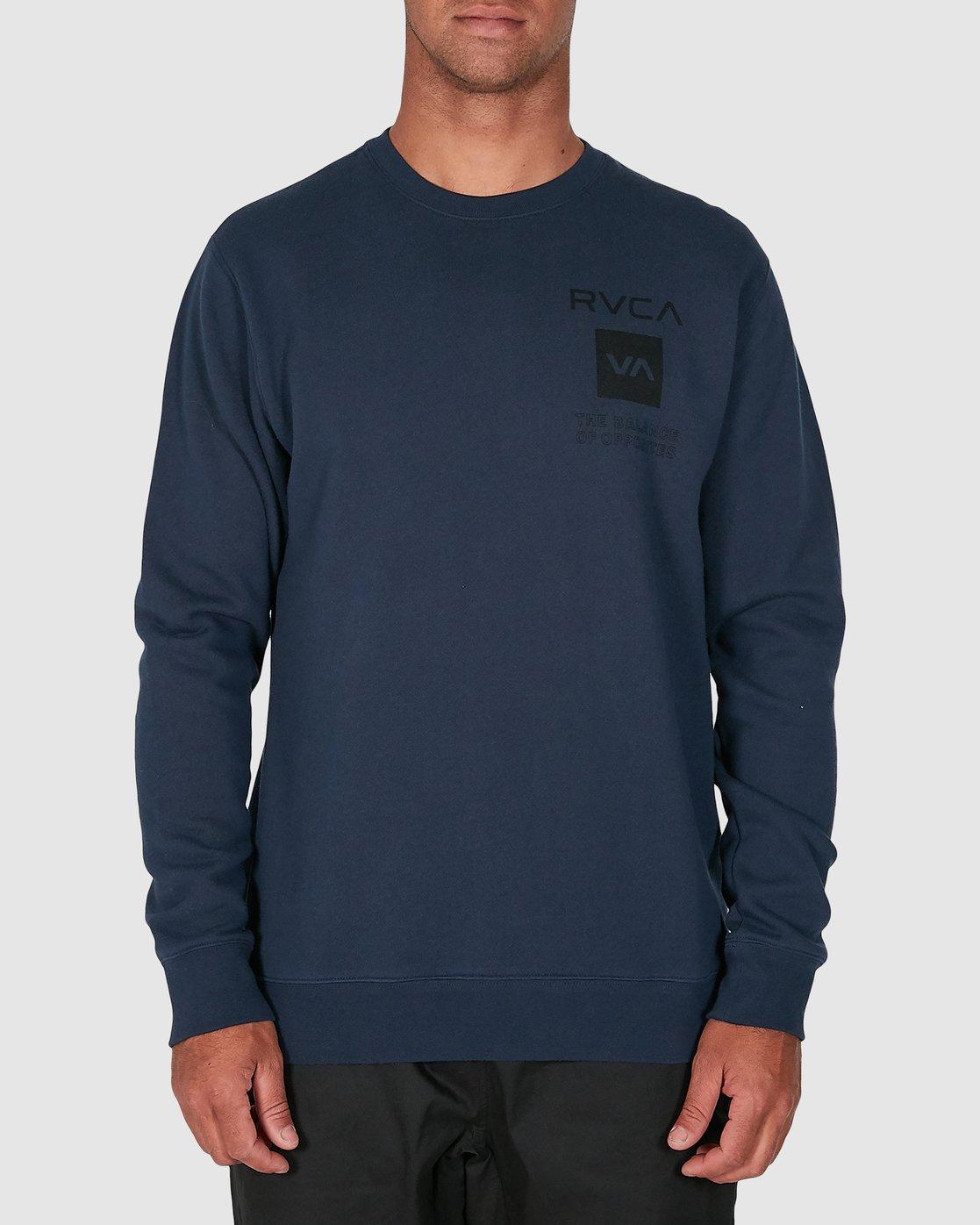 1 Sport Graphic Crew Jumper Blue R305156 RVCA