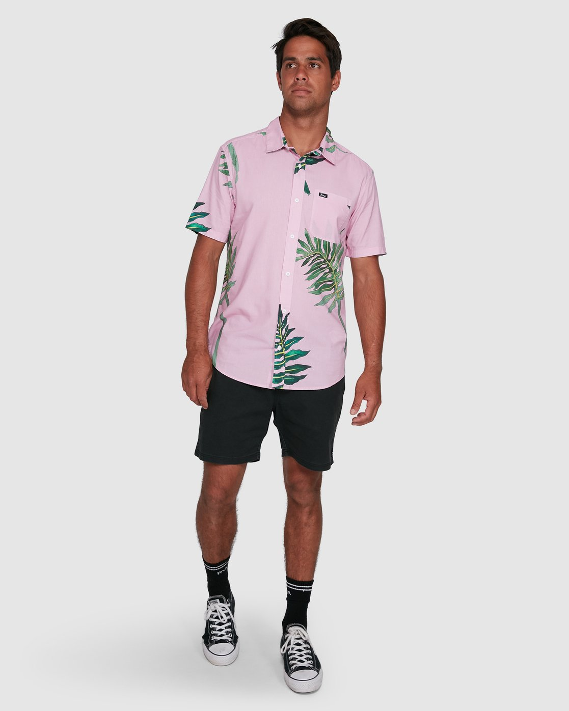 6 ROZICH SHORT SLEEVE TOP Pink R305181 RVCA