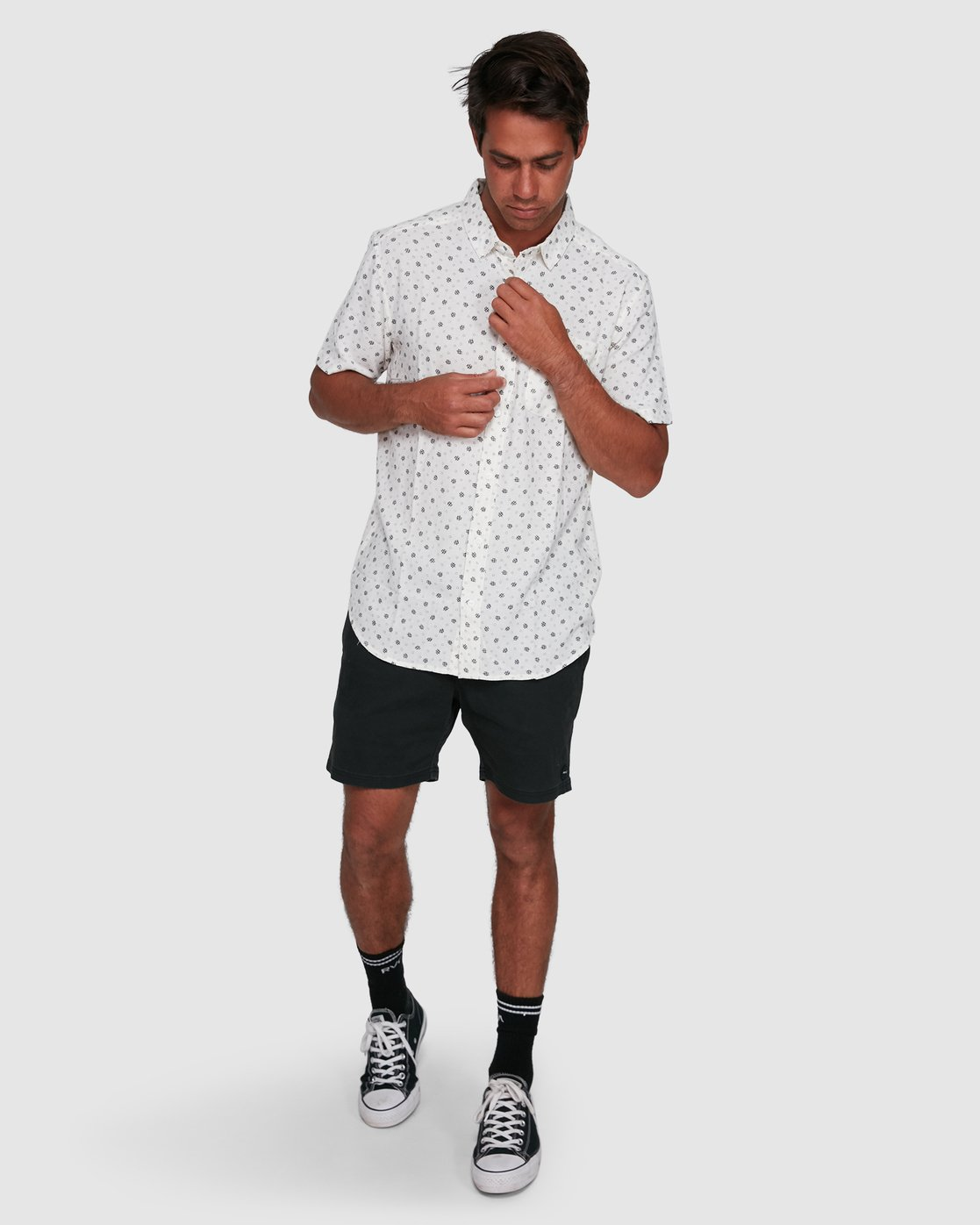 6 OUTBREAK SHORT SLEEVE TOP White R305183 RVCA