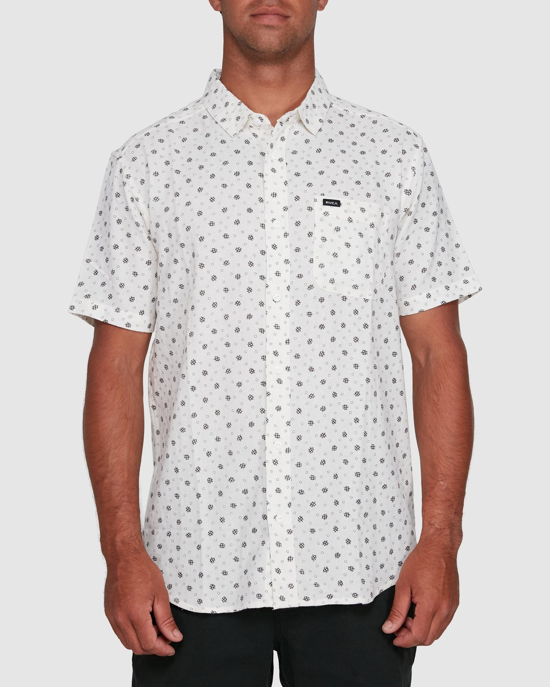 1 OUTBREAK SHORT SLEEVE TOP White R305183 RVCA