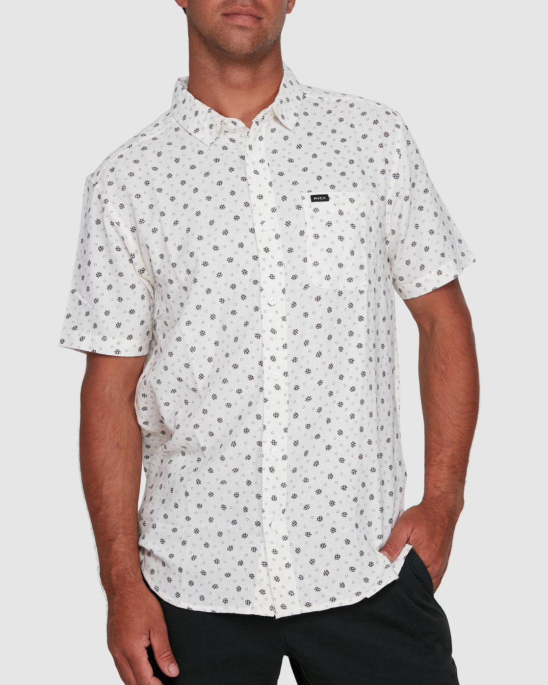 0 OUTBREAK SHORT SLEEVE TOP White R305183 RVCA