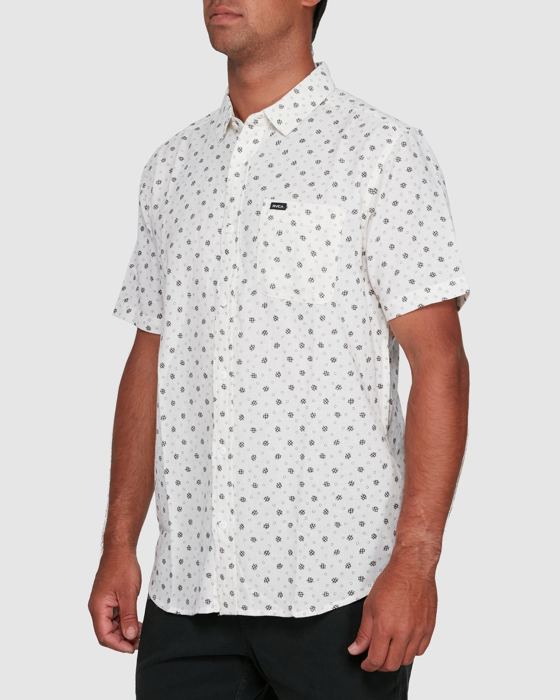 2 OUTBREAK SHORT SLEEVE TOP White R305183 RVCA