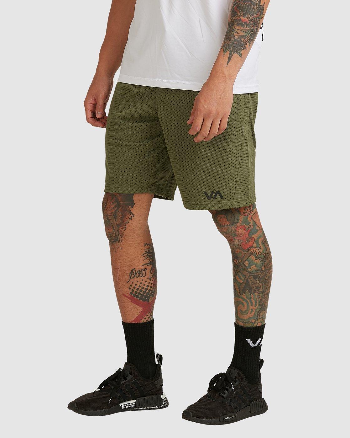 0 Va Mesh Short Green R305311 RVCA