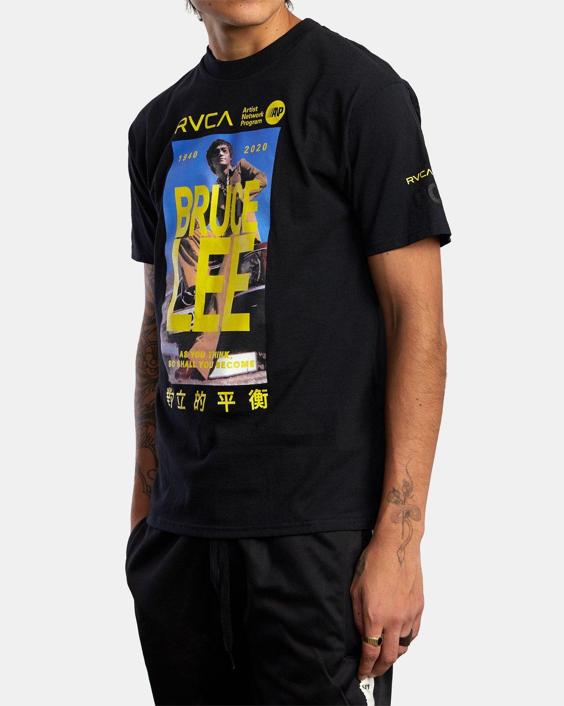 1 Bruce Lee As You Think Short Sleeve Tee Black R306056 RVCA