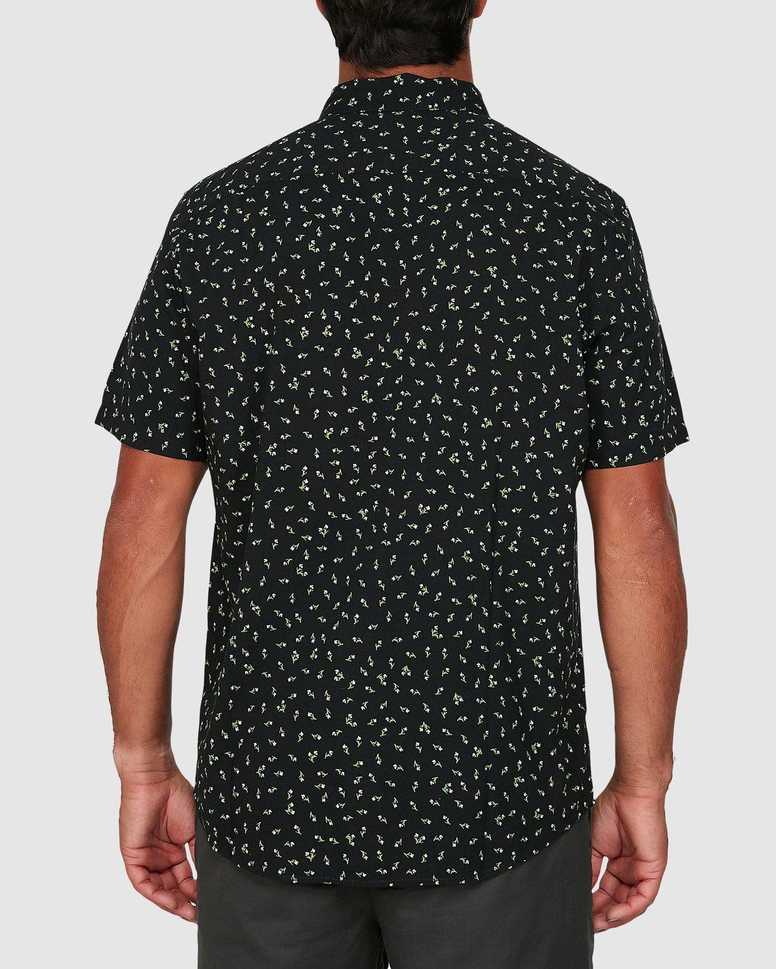2 Scattered Short Sleeve Shirt Black R306183 RVCA