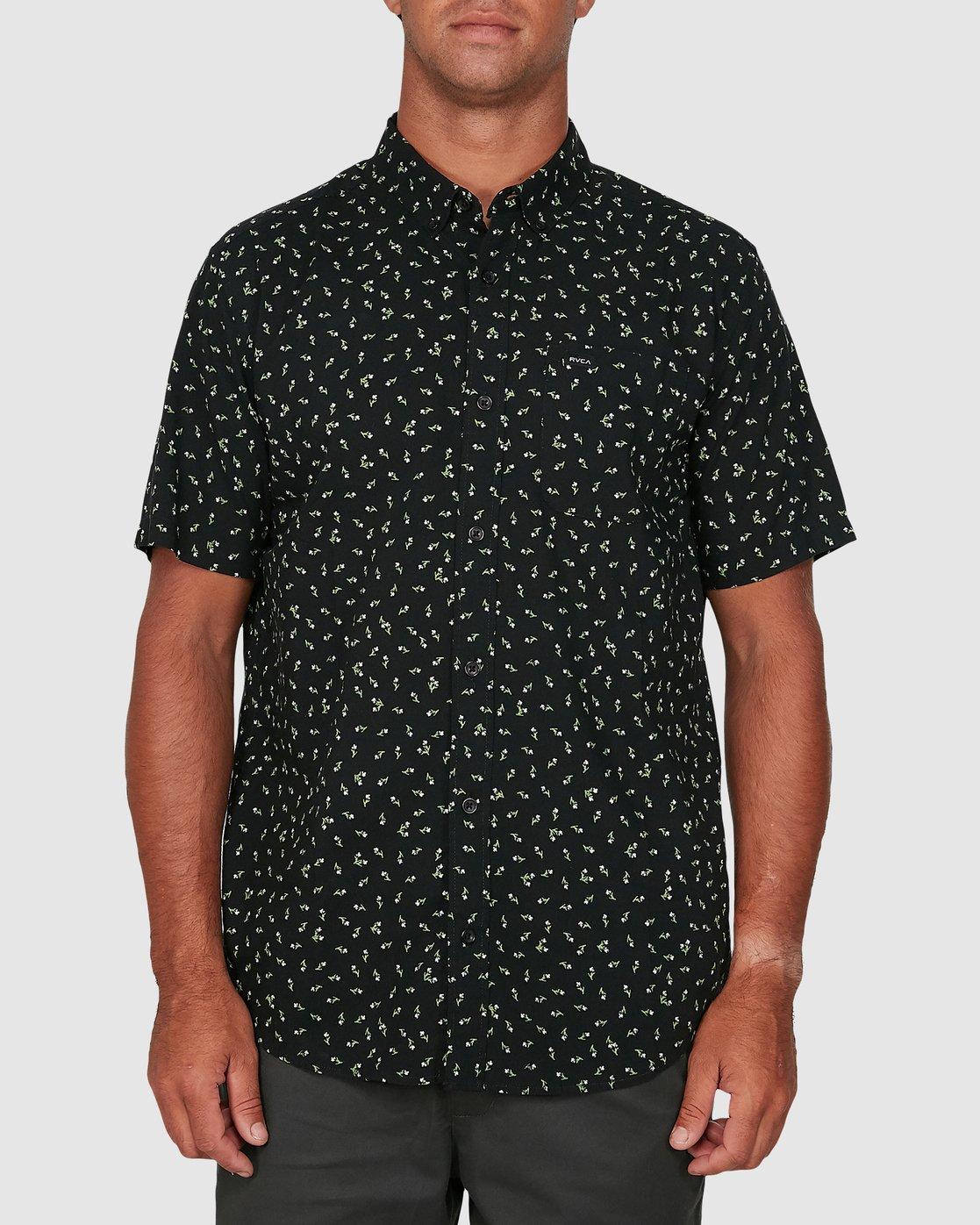 0 Scattered Short Sleeve Shirt Black R306183 RVCA