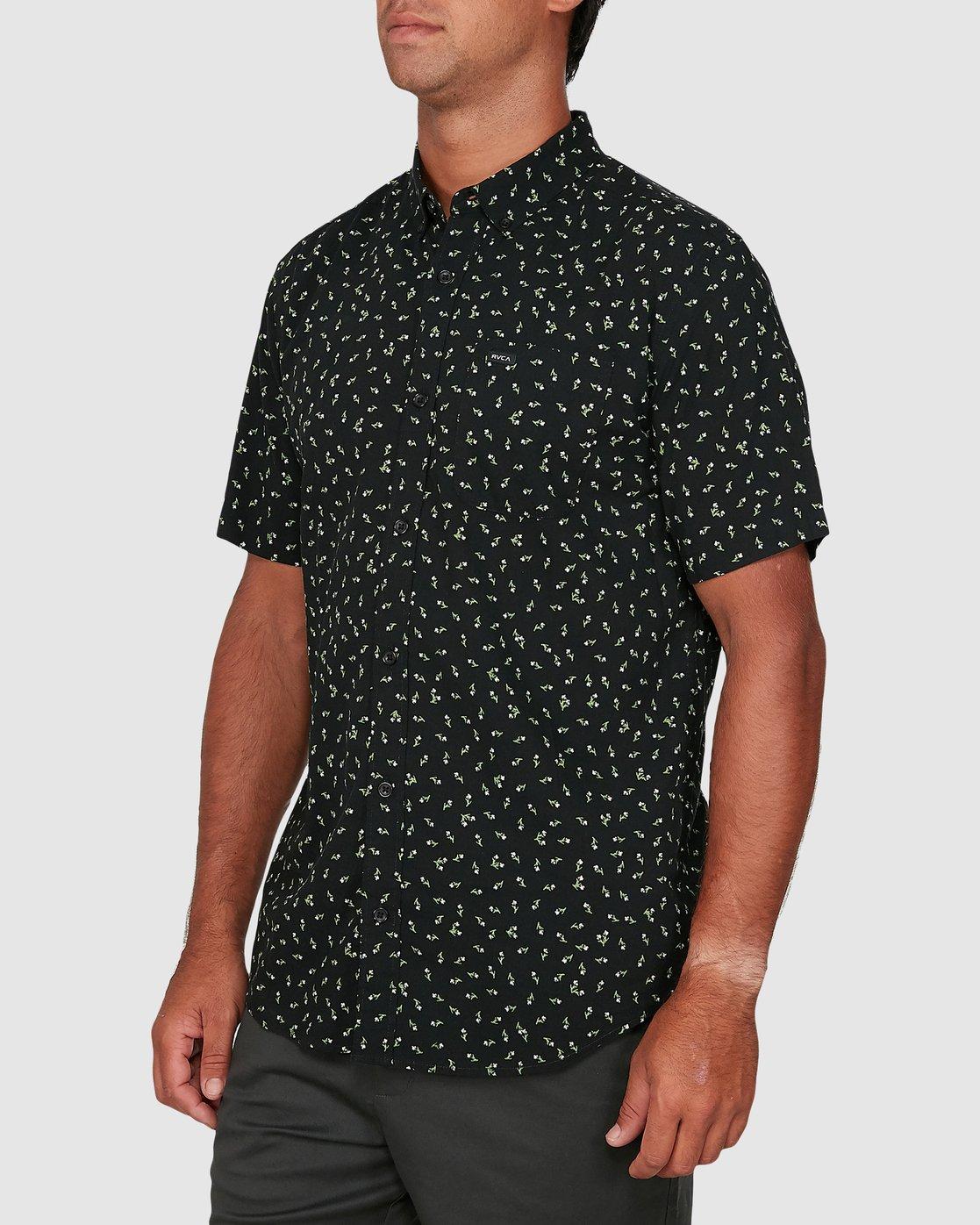 1 Scattered Short Sleeve Shirt Black R306183 RVCA