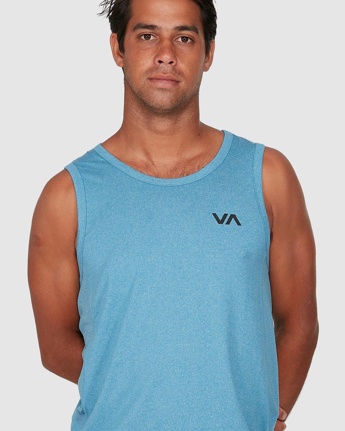 3 Sport Vent Sleeveless Top Blue R307001 RVCA