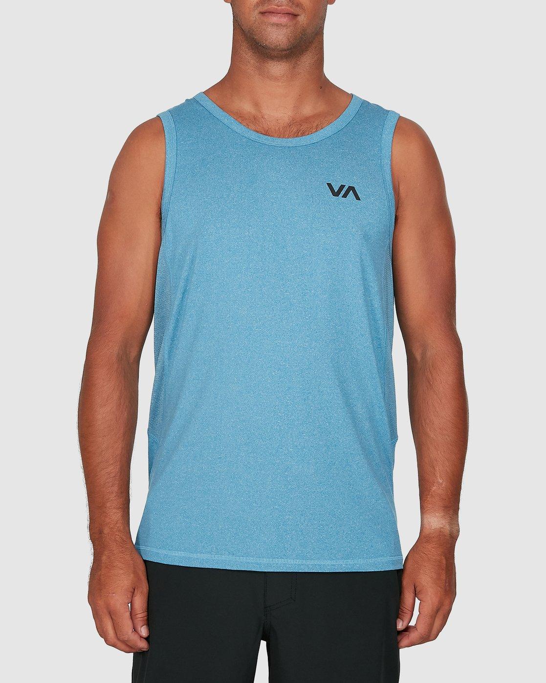 0 Sport Vent Sleeveless Top Blue R307001 RVCA
