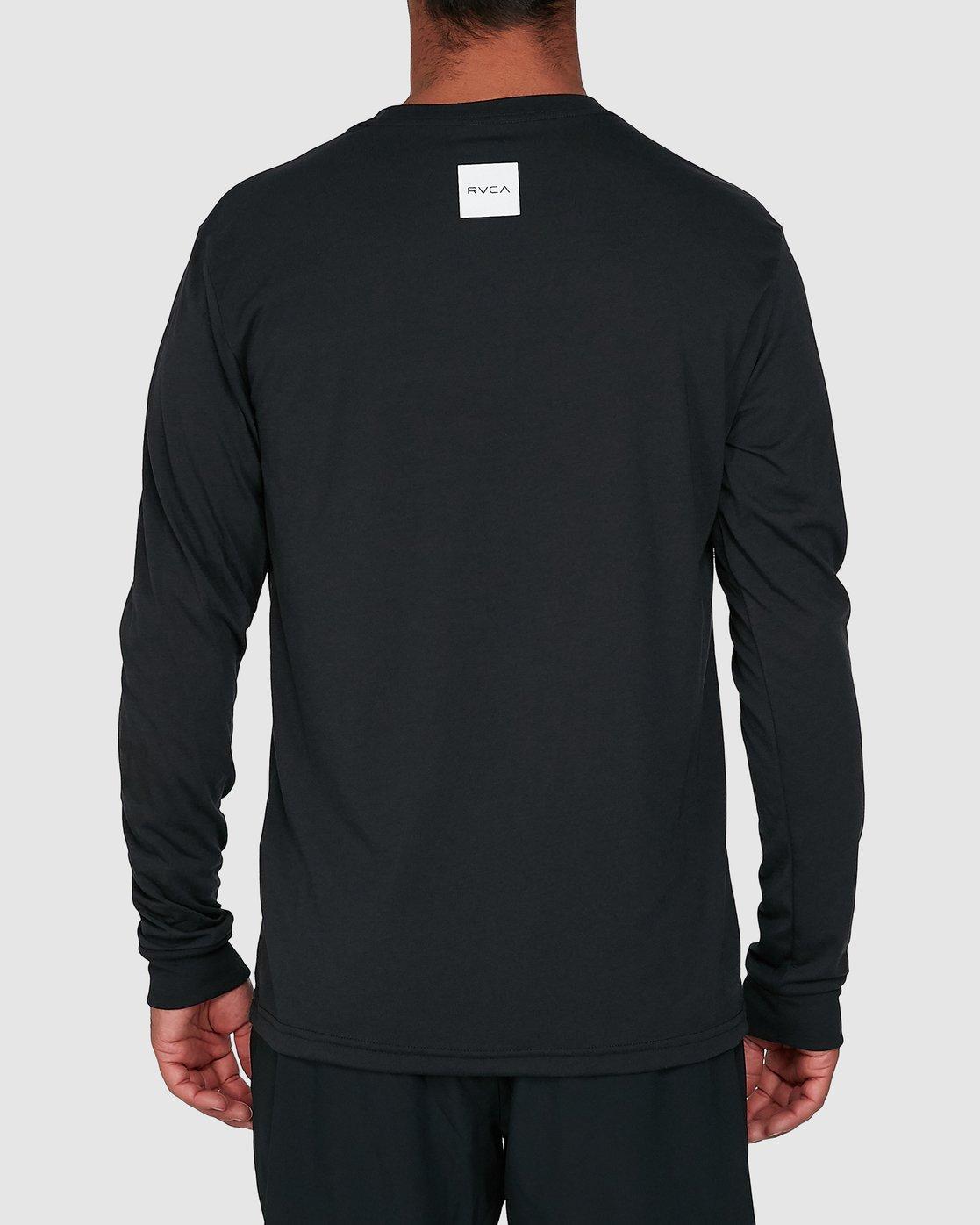 3 All Out Rvca Long Sleeve Tee Black R307046 RVCA