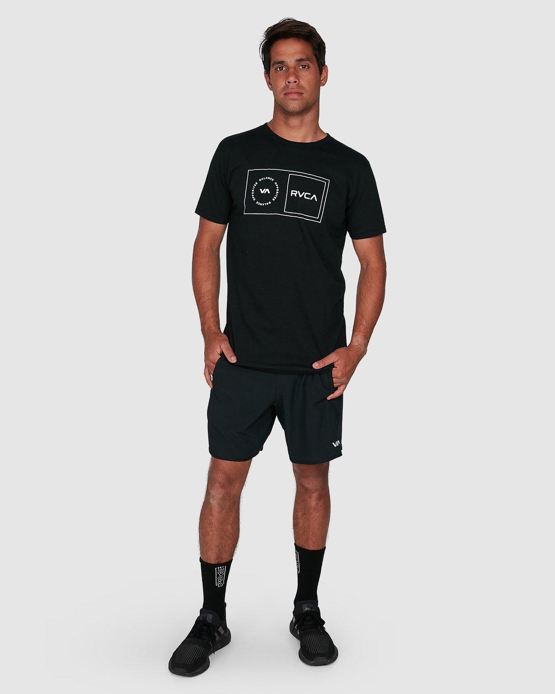 6 Sport Balance Box Short Sleeve Tee Black R307049 RVCA