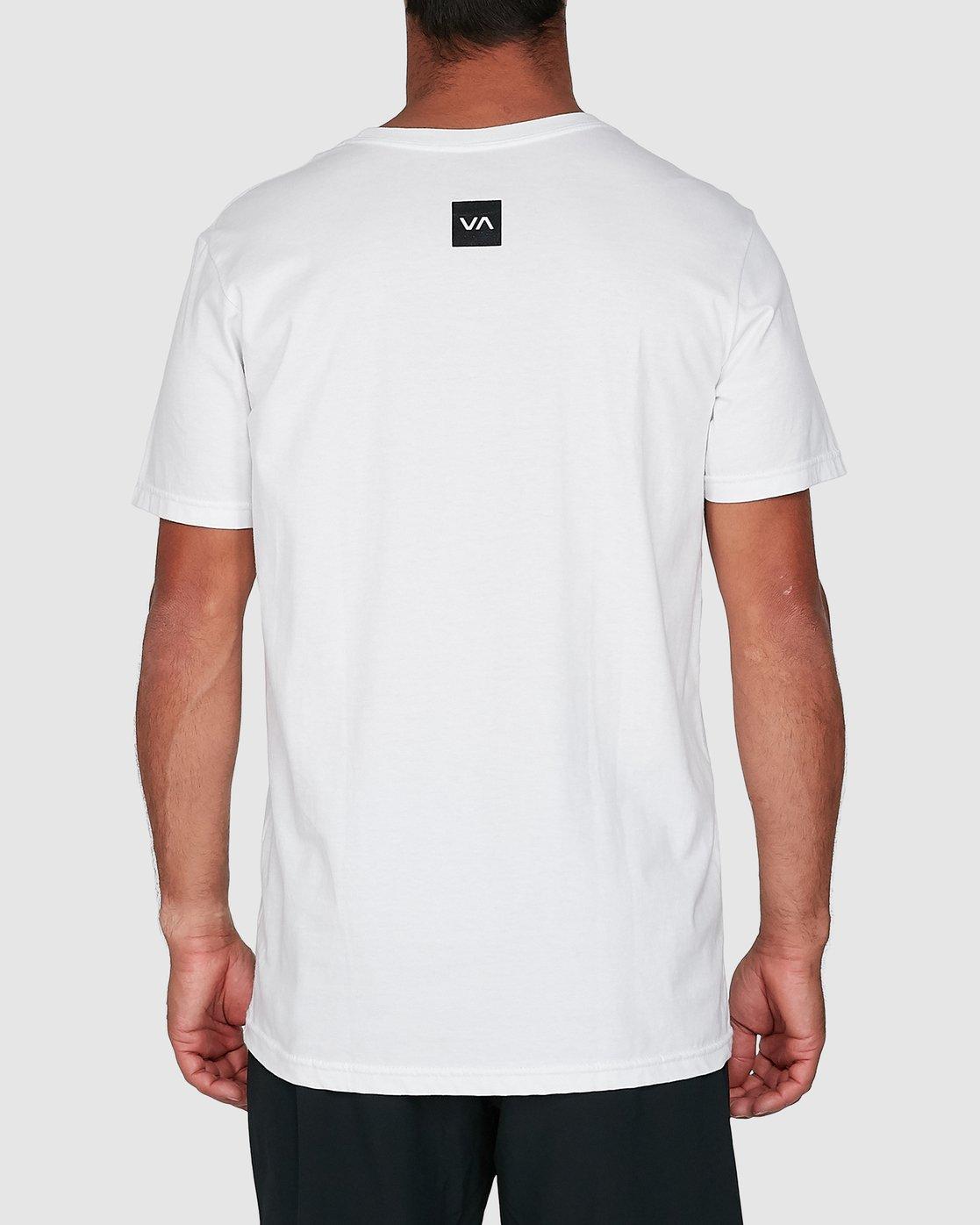 3 Sport Balance Box Short Sleeve Tee White R307049 RVCA