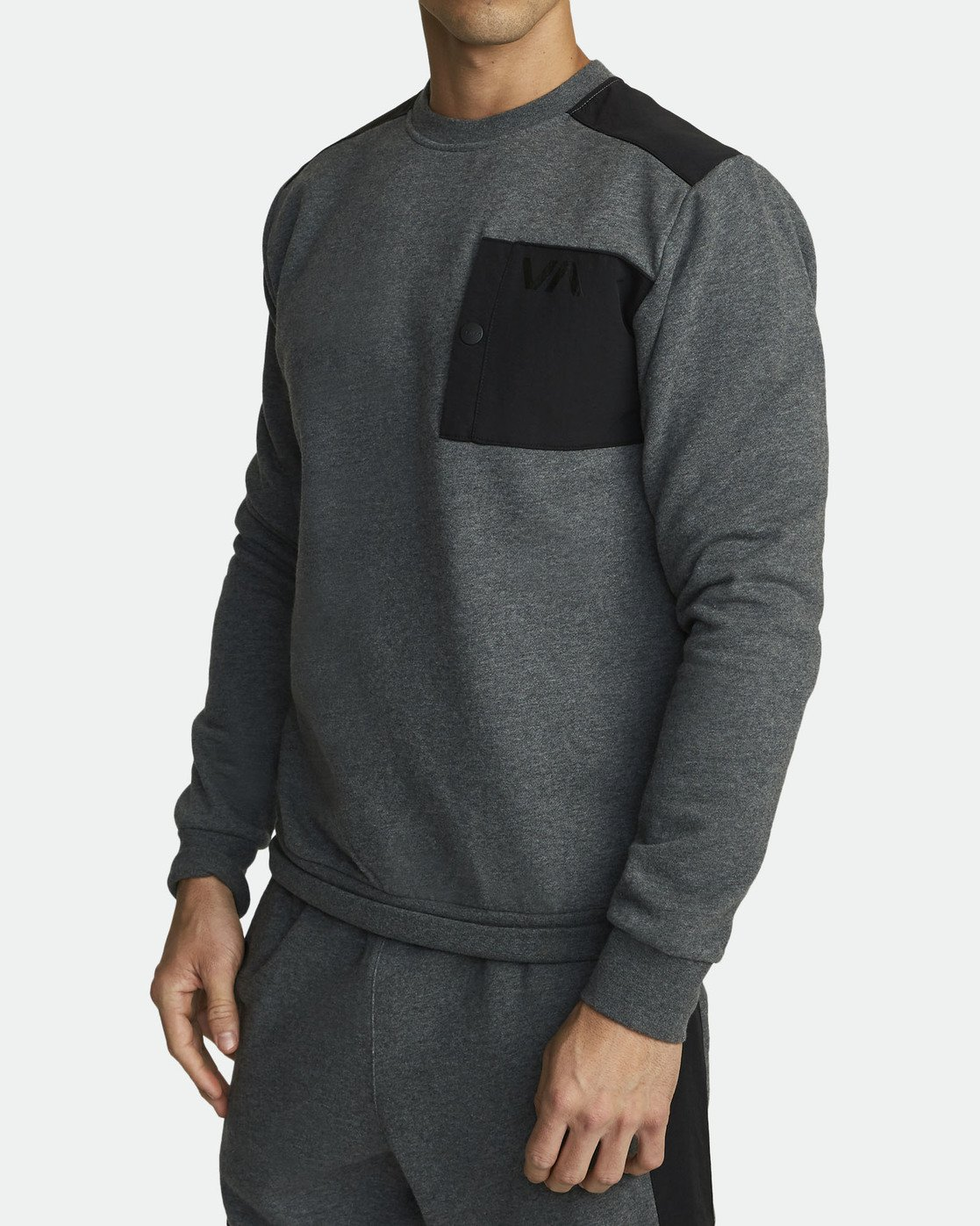 2 Hybrid Crew Fleece Grey R307153 RVCA