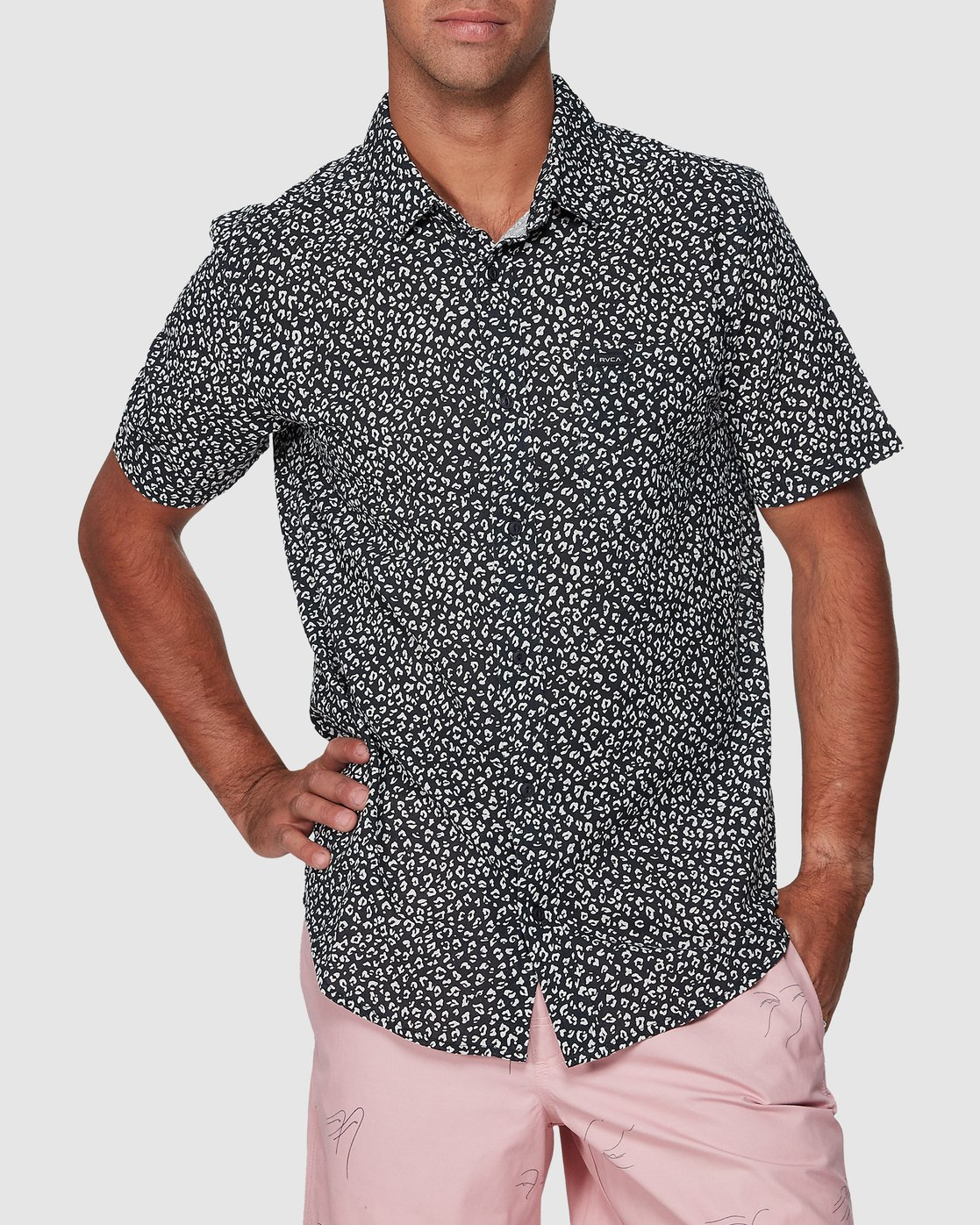 0 Presidio Short Sleeve Shirt Black R307190 RVCA