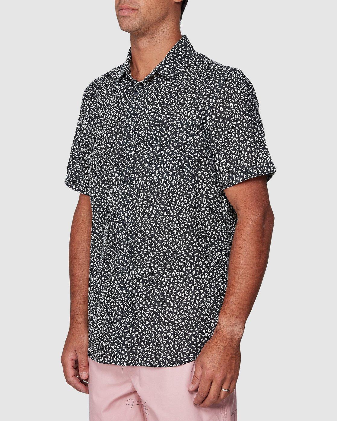 2 Presidio Short Sleeve Shirt Black R307190 RVCA