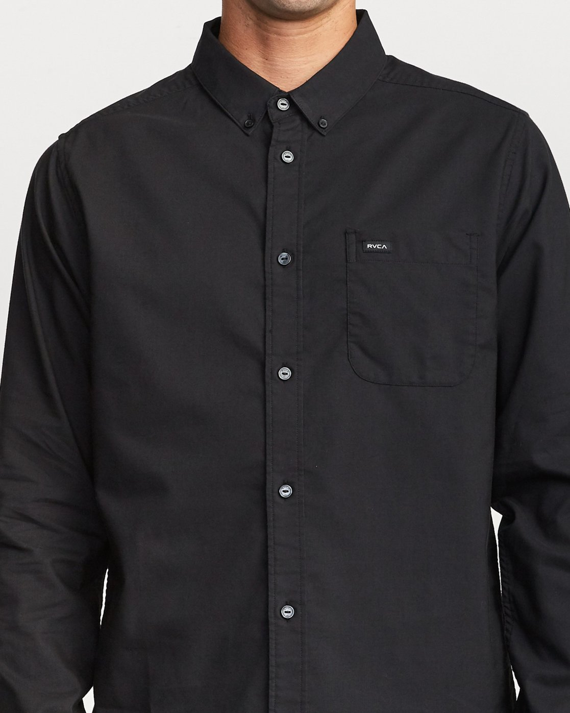 3 Thatll Do Stretch Long Sleeve Shirt Black R307194 RVCA