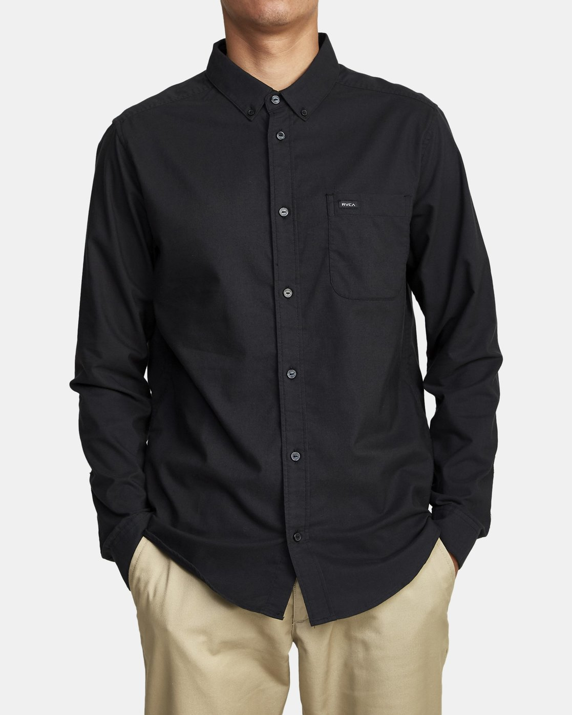 1 Thatll Do Stretch Long Sleeve Shirt Black R307194 RVCA