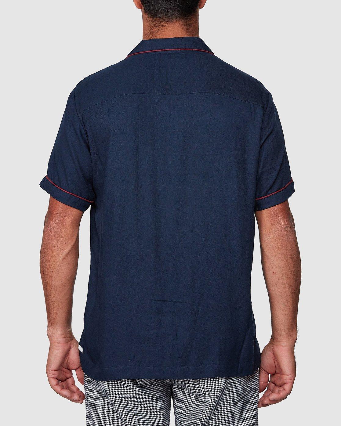 3 Hi-Grade Camp Shirt Blue R307195 RVCA