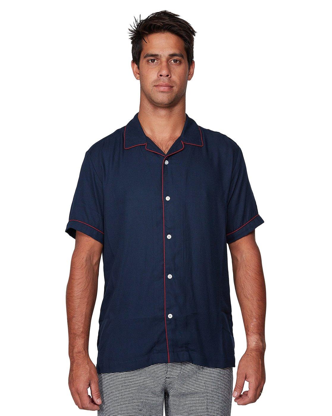 1 Hi-Grade Camp Shirt Blue R307195 RVCA