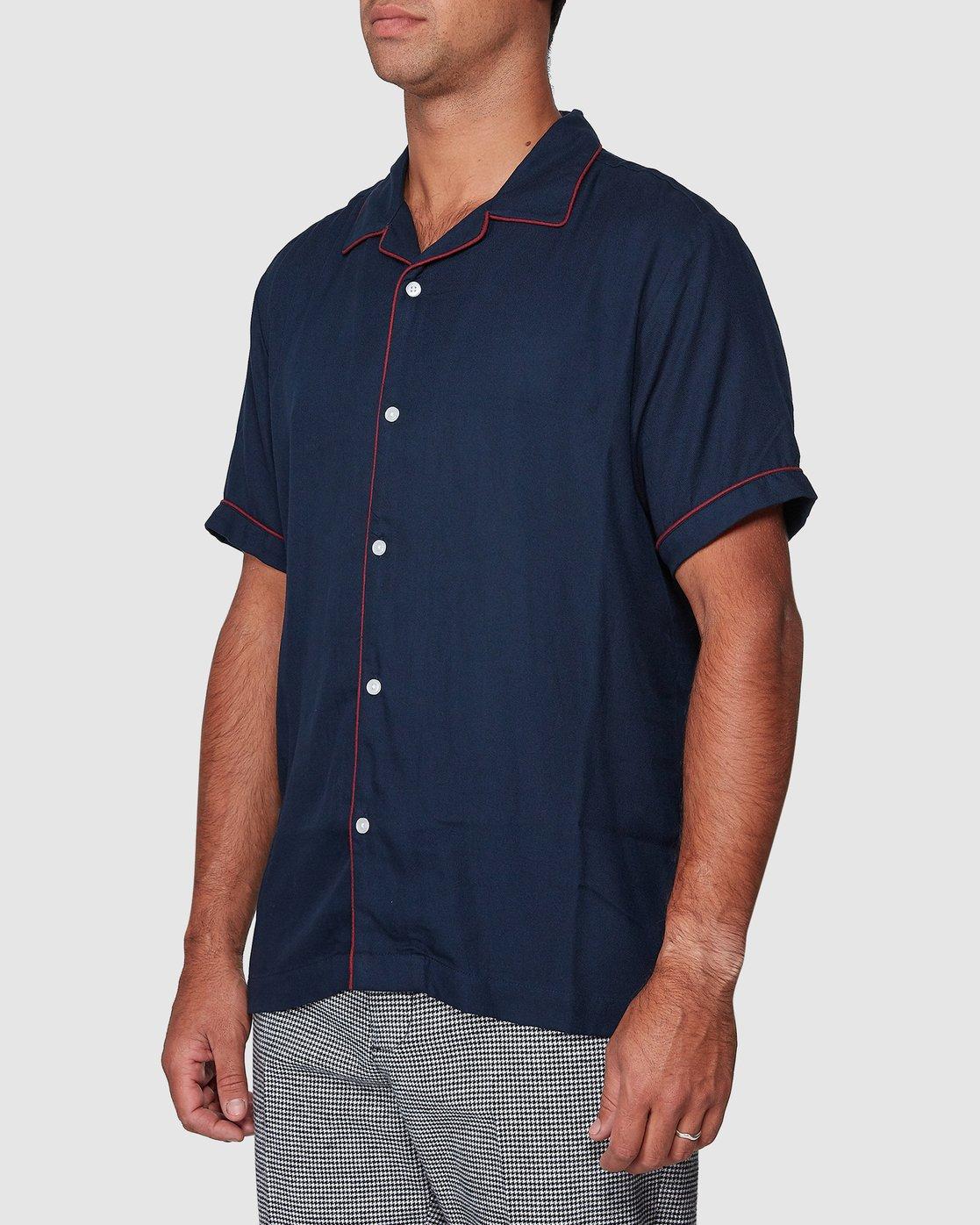 2 Hi-Grade Camp Shirt Blue R307195 RVCA