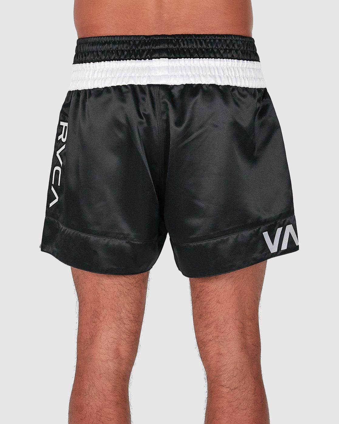 2 RVCA MUAY THAI SHORTS Black R307312 RVCA