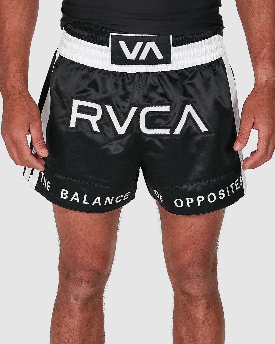 4 RVCA MUAY THAI SHORTS Black R307312 RVCA