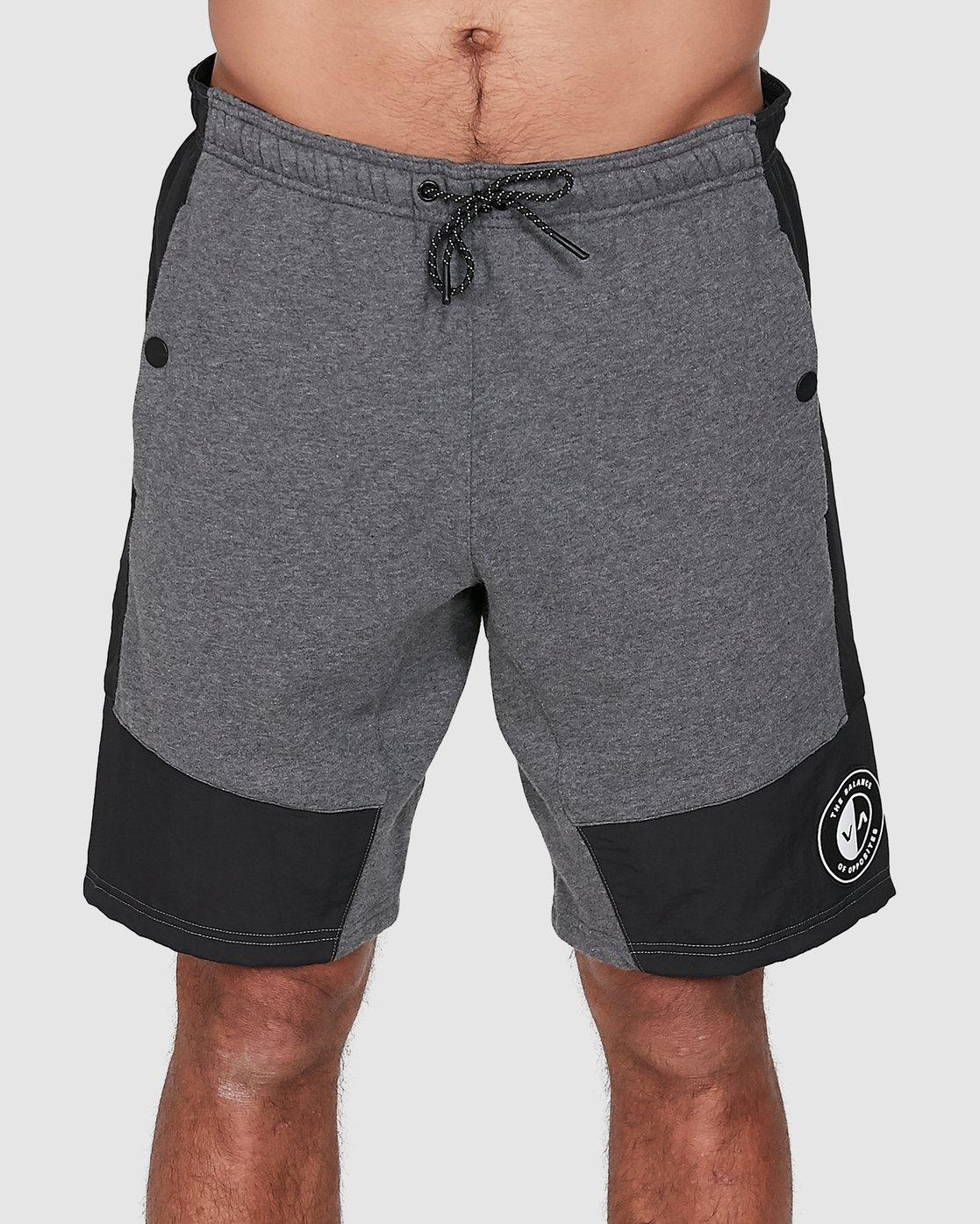 1 Hybrid Shorts Grey R307316 RVCA